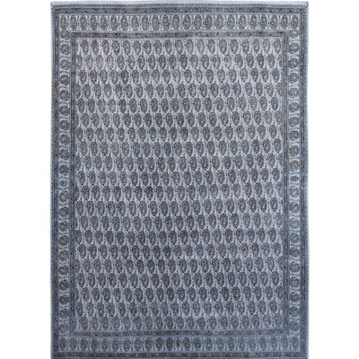 Vintage Hand-Knotted Blue/Gray Area Rug