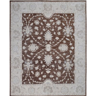 Hand-Knotted Brown/Gray Area Rug