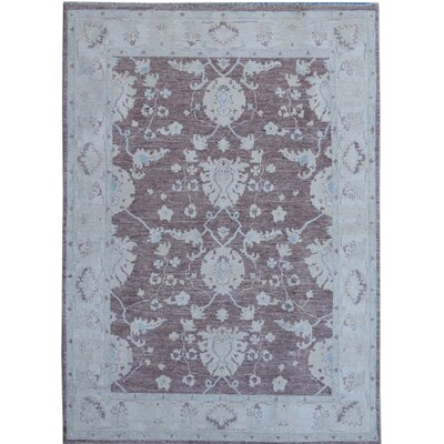 Hand-Knotted Gray/Brown Area Rug