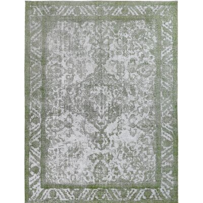 Vintage Hand-Knotted Gray/Green Area Rug