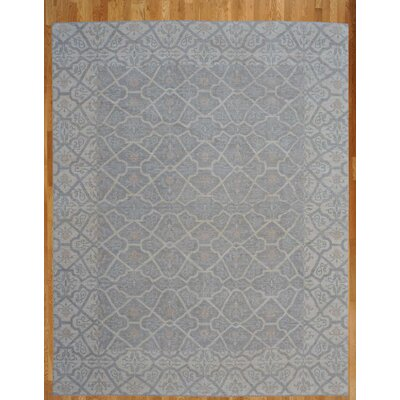 Hand-Knotted Gray/Blue Area Rug