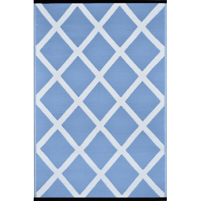 Lightweight Reversible Powder/White Indoor/Outdoor Area Rug Rug Size: 4 x 6