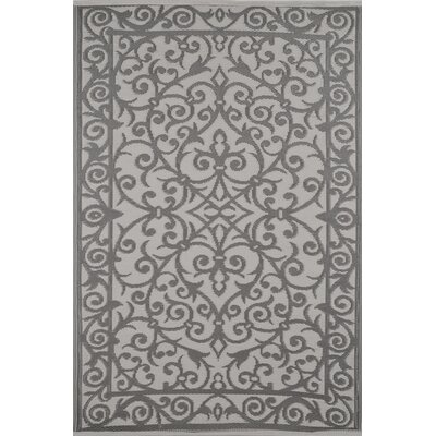 Lightweight Reversible Taupe Gray/Buttercream Indoor/Outdoor Area Rug
