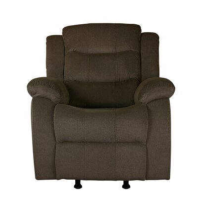 Bragenham Manual Glider Recliner Color: Tan