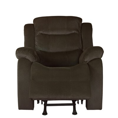 Bragenham Glider Recliner Chair Color: Brown