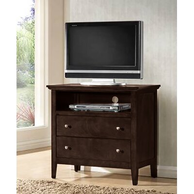Sharpsburg 2 Drawer Media Chest Color: Black