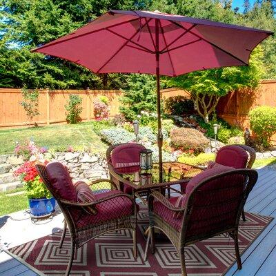 Lightweight Reversible Mahogany/Cream Indoor/Outdoor Area Rug