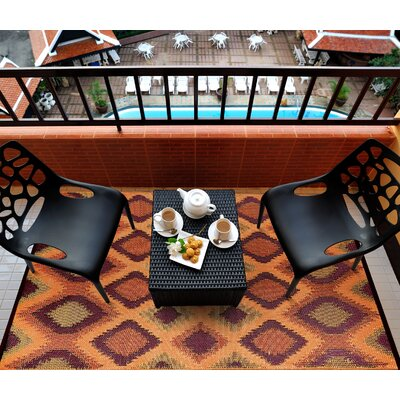 Lightweight Reversible Orange/Gold Indoor/Outdoor Area Rug