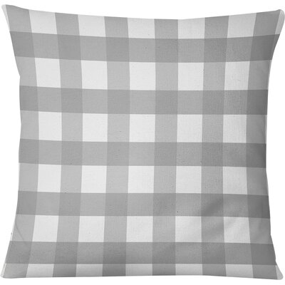 Ophelie Throw Pillow Color: Gray, Size: 18 H x 18 W
