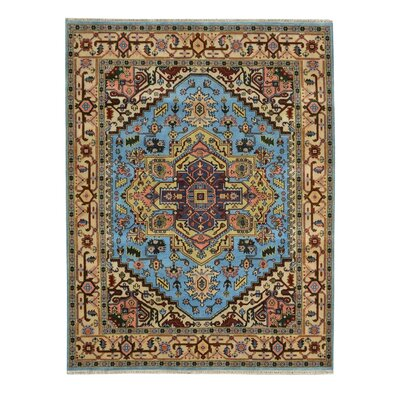 Hand-Knotted Blue Area Rug Rug Size: 8' x 10'