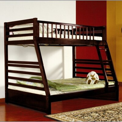 Twin over Full Bunk Bed with Storage Finish: Espresso