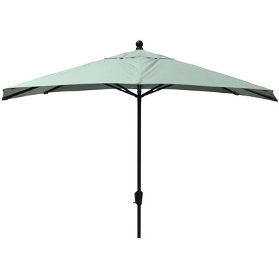 10 Market Umbrella Fabric: Canvas Spa, Frame Finish: White