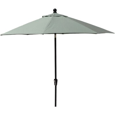 11 Market Umbrella Fabric: Spectrum Sand, Frame Finish: Woodgrain