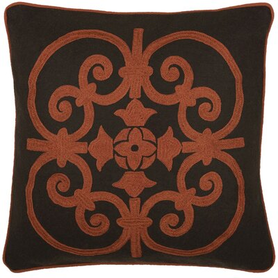 Delphine Throw Pillow Color: Brown