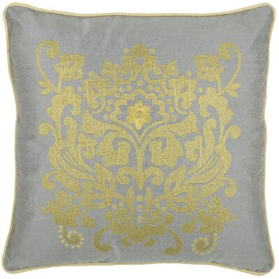 Deloris Throw Pillow Color: Silver