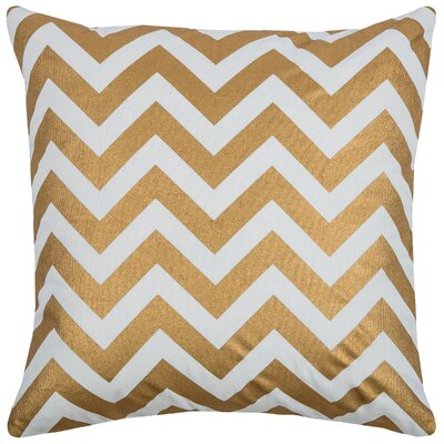 Chasity  Cotton Throw Pillow Color: Gold