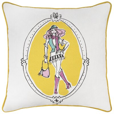 Charlottie  Cotton Throw Pillow