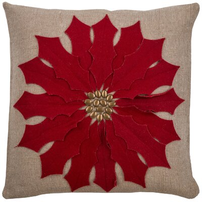 Cyntra  Pillow Color: Red