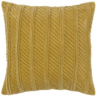 Charitye Cotton Throw Pillow Color: Gold