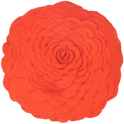 Destini Wool Throw Pillow Color: Orange