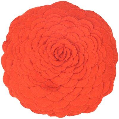 Destini Wool Throw Pillow Color: Orange