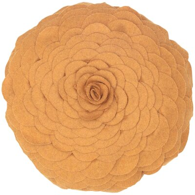 Destini Wool Throw Pillow Color: Gold