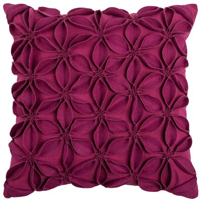 Florent Throw Pillow Color: Raspberry