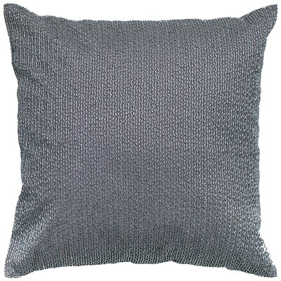 Sequin Embroidered Cotton Throw Pillow Color: Silver