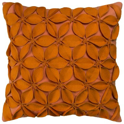 Deniece Throw Pillow Color: Orange