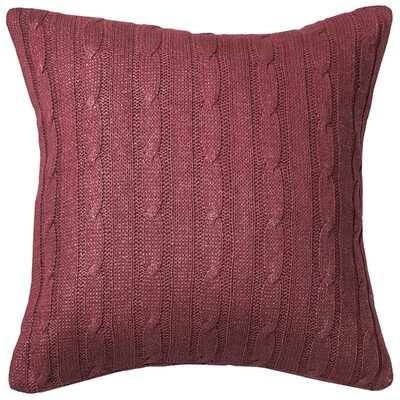 Dalal  Pillow Cover Color: Red/Silver
