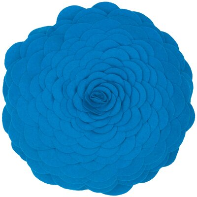 Destini Wool Throw Pillow Color: Blue