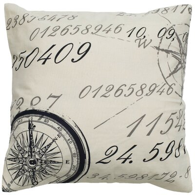 Number Cotton Throw Pillow