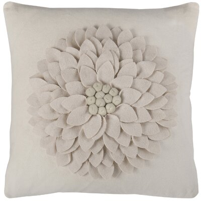 Dakote Throw Pillow Color: Ivory