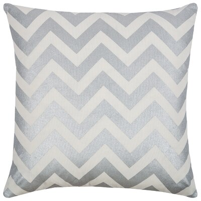 Chasity  Cotton Throw Pillow Color: Silver