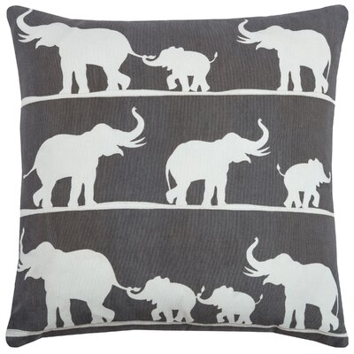 Chariety  Cotton Blend Throw Pillow Color: Charcoal