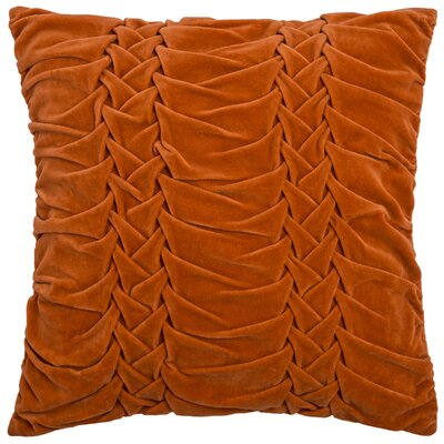 Chasidy 100% Cotton Throw Pillow Color: Orange