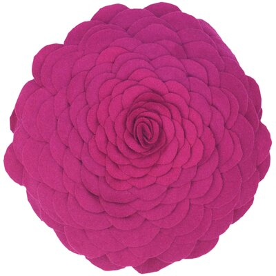Destini Wool Throw Pillow Color: Magenta