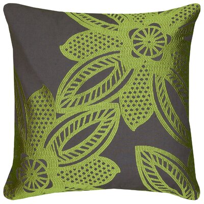 Dakshina Throw Pillow Color: Lime