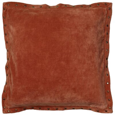 Dahlina Velvet Throw Pillow Color: Orange