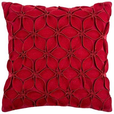 Deniece Throw Pillow Color: Red