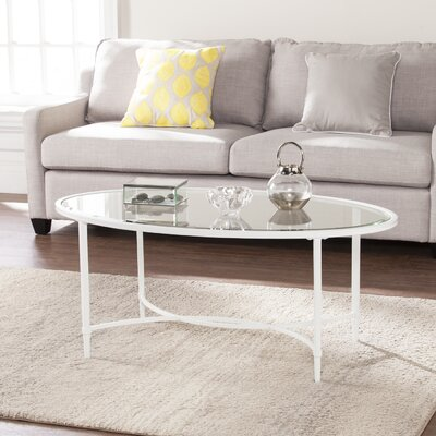 Prestridge Metal/Glass Oval Coffee Table