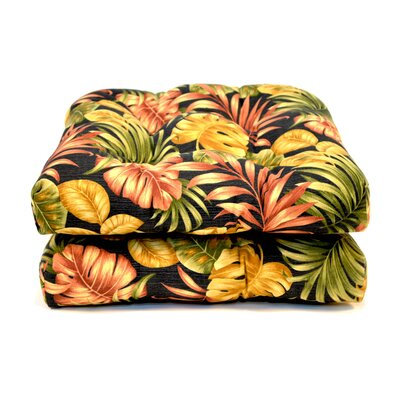 Tropical Wicker Outdoor Dining Chair Cushion