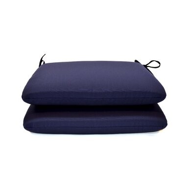 Outdoor Sunbrella Dining Chair Cushion Fabric: Canvas Navy