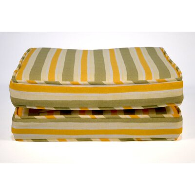 Boxed and Welted Stripe Outdoor Dining Chair Cushion
