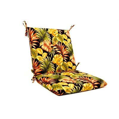 Tropical Floral Iron High Back Outdoor Lounge Chair Cushion