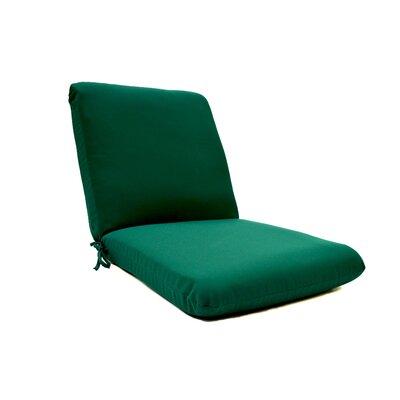 Outdoor Sunbrella Club Chair Cushion Fabric: Jockey Red
