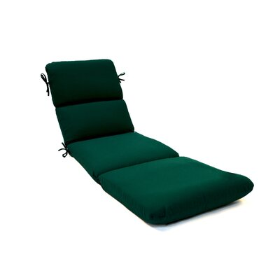 Canvas Outdoor Sunbrella Chaise Lounge Cushion Fabric: Canvas Forest Green