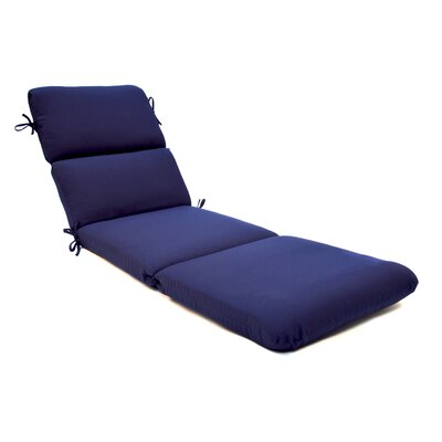Canvas Outdoor Sunbrella Chaise Lounge Cushion Fabric: Canvas Navy