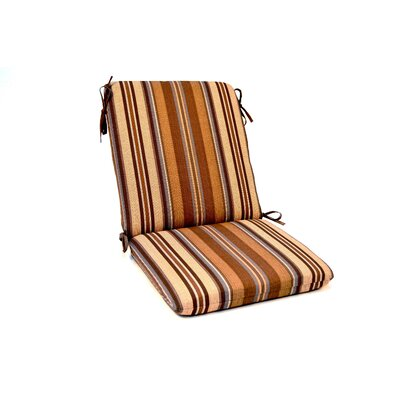 Stripe Iron High Back Outdoor Lounge Chair Cushion