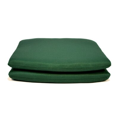 Tapered Outdoor Dining Chair Cushion Fabric: Forest Green